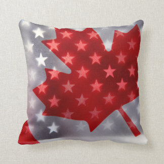 Canada with America flags Pillows