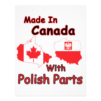 Canada With Polish Parts Personalized Flyer