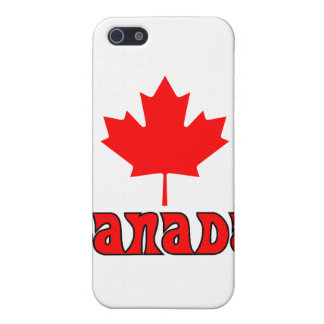 CANADA with red Maple Leaf iPhone 5 Cases