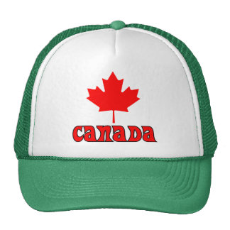 CANADA with red Maple Leaf Trucker Hat