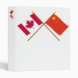 """Canadá y bandera cruzada República Popular China Carpeta 1"""""""