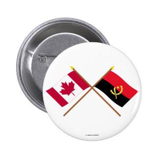 Canadá y banderas cruzadas Angola Pin