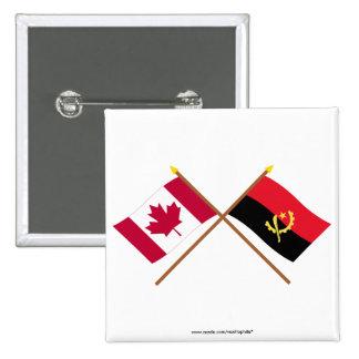 Canadá y banderas cruzadas Angola Pins