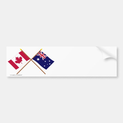 Canadá y banderas cruzadas Australia Pegatina Para Auto