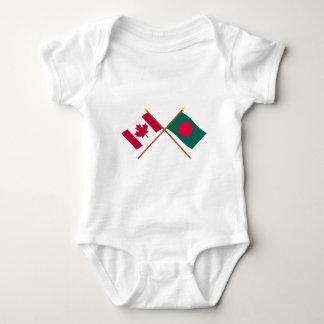 Canadá y banderas cruzadas Bangladesh Playeras