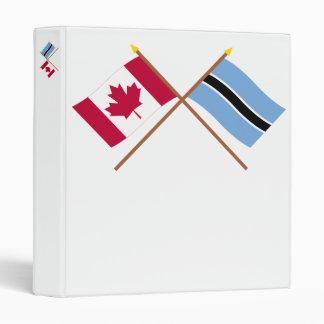 """Canadá y banderas cruzadas Botswana Carpeta 1"""""""