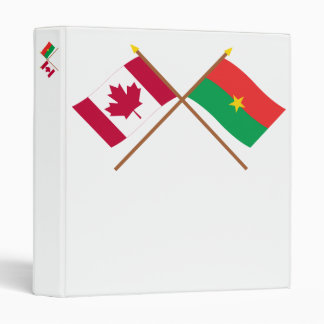 """Canadá y banderas cruzadas Burkina Faso Carpeta 1"""""""