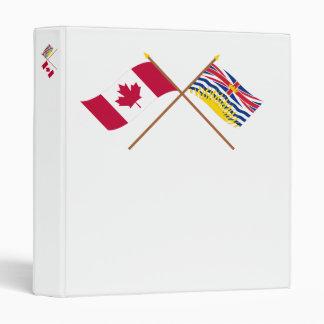 """Canadá y banderas cruzadas Columbia Británica Carpeta 1"""""""
