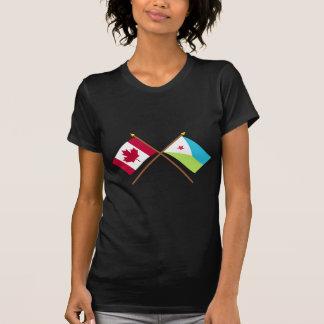 Canadá y banderas cruzadas Djibouti Camisetas