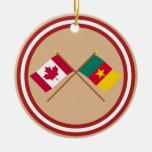 Canadá y banderas cruzadas el Camerún Ornamentos Para Reyes Magos