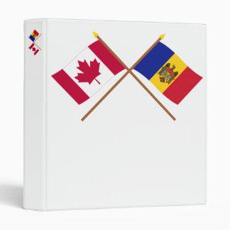 """Canadá y banderas cruzadas el Moldavia Carpeta 1"""""""