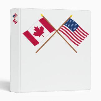 """Canadá y banderas cruzadas Estados Unidos Carpeta 1"""""""