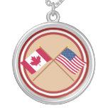 Canadá y banderas cruzadas Estados Unidos Joyerias