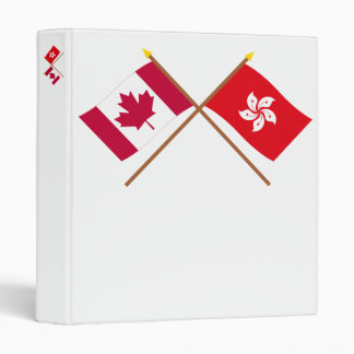 "Canadá y banderas cruzadas Hong Kong Carpeta 1"""