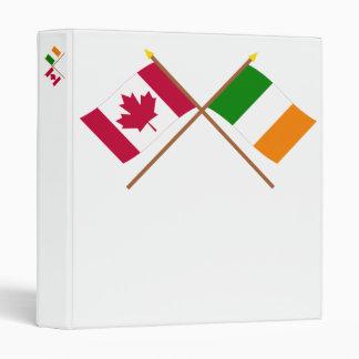 """Canadá y banderas cruzadas Irlanda Carpeta 1"""""""