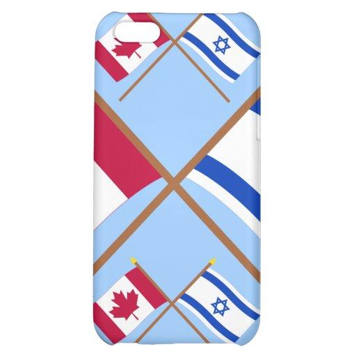 Canadá y banderas cruzadas Israel