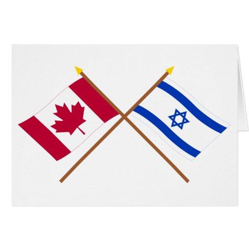Canadá y banderas cruzadas Israel Felicitacion