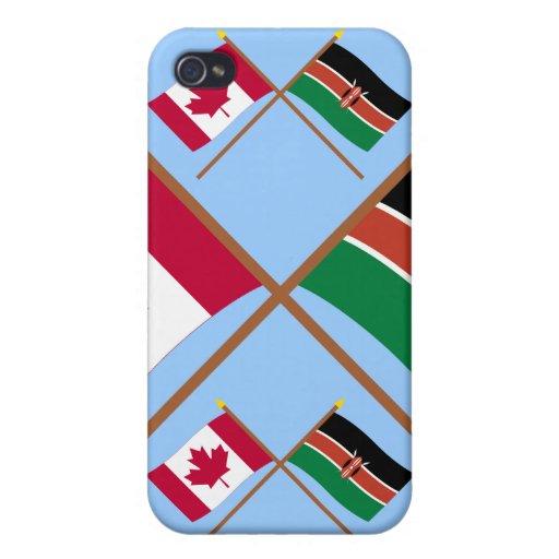Canadá y banderas cruzadas Kenia iPhone 4/4S Fundas