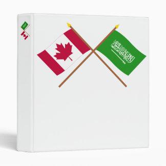 """Canadá y banderas cruzadas la Arabia Saudita Carpeta 1"""""""