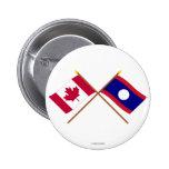 Canadá y banderas cruzadas Laos Pins