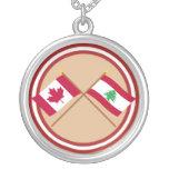 Canadá y banderas cruzadas Líbano Grimpola Personalizada
