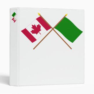 Canadá y banderas cruzadas Libia
