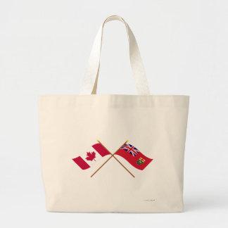 Canadá y banderas cruzadas Manitoba Bolsas De Mano