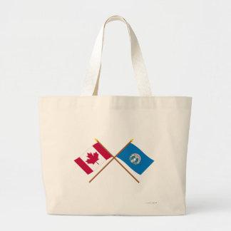 Canadá y banderas cruzadas Mariana septentrionales Bolsas