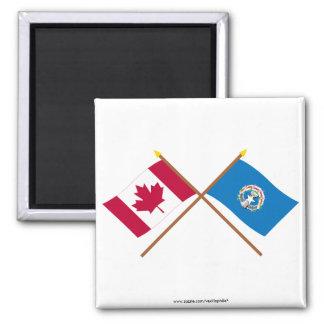 Canadá y banderas cruzadas Mariana septentrionales Imanes De Nevera