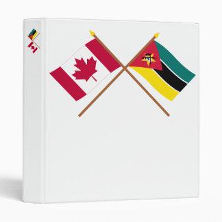 """Canadá y banderas cruzadas Mozambique Carpeta 1"""""""