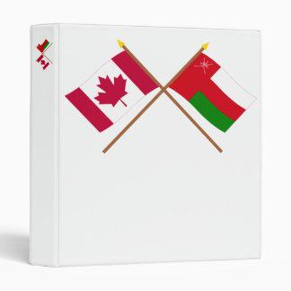 """Canadá y banderas cruzadas Omán Carpeta 1"""""""