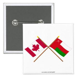 Canadá y banderas cruzadas Omán Pin