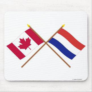 Canadá y banderas cruzadas Países Bajos Alfombrilla De Ratones