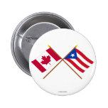 Canadá y banderas cruzadas Puerto Rico Pin