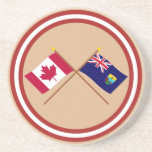 Canadá y banderas cruzadas St. Helena Posavasos Para Bebidas