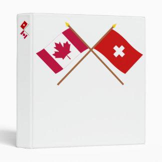 """Canadá y banderas cruzadas Suiza Carpeta 1"""""""