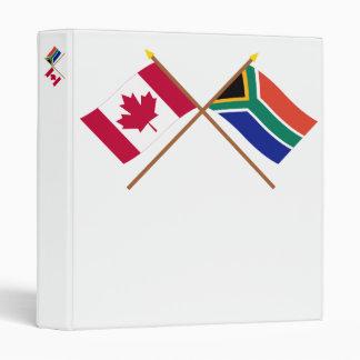 """Canadá y banderas cruzadas Suráfrica Carpeta 1"""""""
