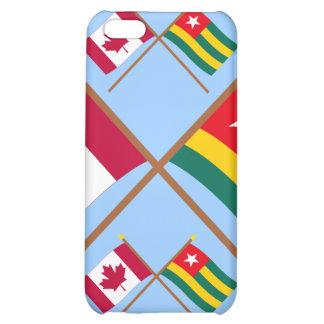 Canadá y banderas cruzadas Togo