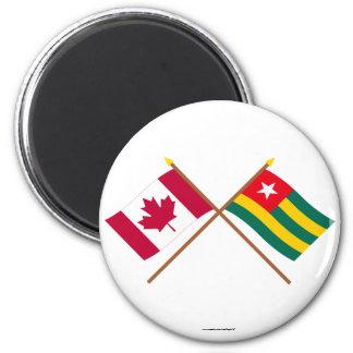Canadá y banderas cruzadas Togo Iman Para Frigorífico