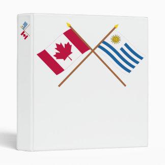 Canadá y banderas cruzadas Uruguay