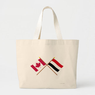 Canadá y banderas cruzadas Yemen Bolsas