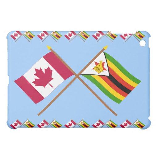 Canadá y banderas cruzadas Zimbabwe