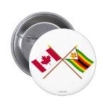 Canadá y banderas cruzadas Zimbabwe Pin