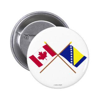 Canadá y Bosnia y banderas cruzadas Herzegovina Pin