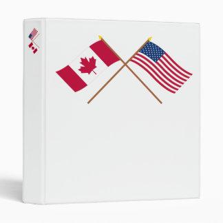 """Canadá y las banderas cruzadas Estados Unidos Carpeta 1"""""""