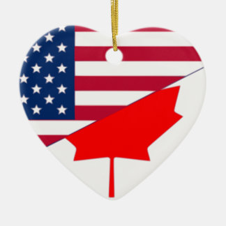 Canadá y los E.E.U.U., híbridos Adorno De Cerámica En Forma De Corazón