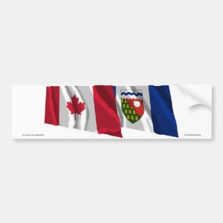 Canadá y territorios del noroeste que agitan bande pegatina para auto