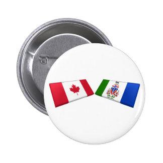 Canada & Yukon Territory Flag Tiles 2 Inch Round Button