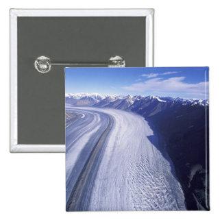 Canada, Yukon Territory, Kluane National Park. 2 Inch Square Button