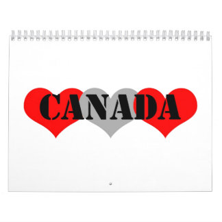 Canadá Calendario De Pared